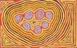 Sale 8743 - Lot 573 - Winifred Richards - Wan Mala Tjukurpa, 2008 93 x 148cm (stretched and ready to hang)