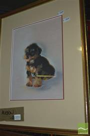 Sale 8425T - Lot 2093 - R. M. Fox, Dog, 1988, Pastel, 30 x 20cm, signed & dated LR