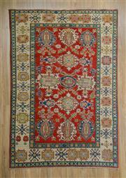 Sale 8559C - Lot 92 - Afghan Kazak 243cm x 165cm