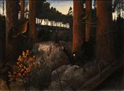 Sale 8675A - Lot 5065 - Artist Unknown - Forest Mating Call, 1932 48 x 68cm