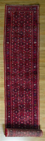 Sale 8665C - Lot 35 - Persian Husinabad Runner 505cm x 85cm