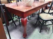 Sale 8669 - Lot 1063 - Timber Dining Table on Splayed Legs