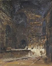 Sale 8722 - Lot 555 - Theodore Penleigh Boyd (1890 - 1923) - Lime Kiln, Lilydale 48.5 x 39cm