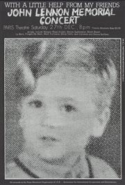Sale 8766A - Lot 5046 - John Lennon Memorial Concert - lithograph