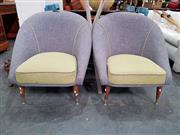 Sale 8801 - Lot 1080 - Pair of Vintage Tub Chairs