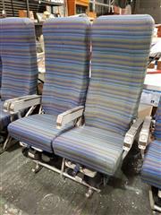 Sale 8809B - Lot 618 - Pair of Vintage Aircraft Seats