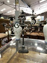 Sale 8896 - Lot 1017 - Cast Iron Four Arm Candelabrum
