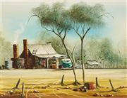 Sale 9084 - Lot 513 - Max Mannix (1939 - ) - Crows on the Roof, 1981 29 x 36.5 cm (frame: 39 x 47 x 4 cm)