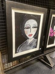Sale 9091 - Lot 2028 - Leene Aavik The Girl from Paris, acrylic on canvas, frame: 54 x 44 cm, signed -