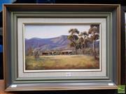 Sale 8478 - Lot 2001 - B. Drew (XX) - Homeward Bound, Kangaroo Valley 24 x 39.5cm