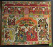 Sale 8506 - Lot 2039 - Large Canvas Print on Board of a Asian Regal Scene