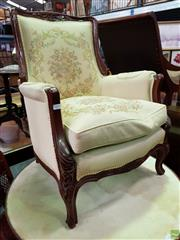 Sale 8570 - Lot 1033 - French Style Upholstered Lounge Chair (89 x 67 x 63cm)