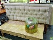 Sale 8629 - Lot 1052 - Button Back Fabric Single Bed Head