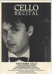 Sale 8766A - Lot 5047 - Tom Kimber Cello Recital - screenprint