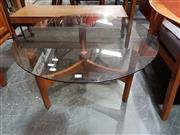 Sale 8801 - Lot 1025 - TH Brown Glass Top Coffee Table
