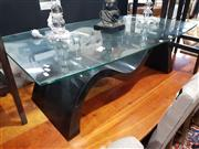 Sale 8826 - Lot 1097 - Modern Glass Top Coffee Table