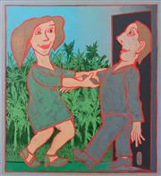 Sale 8839A - Lot 5015 - Andrew Sibley (1933 - 2015) - Come int the Garden, 2005 ( Ep of the Ev Man Series) 92 x 100cm