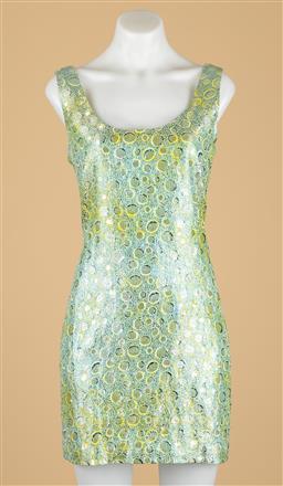 Sale 9250F - Lot 45 - A Lisa Ho metallic dress, size 14.