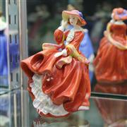 Sale 8336 - Lot 5 - Royal Doulton Figure Pretty Ladies Collection Top o the Hill
