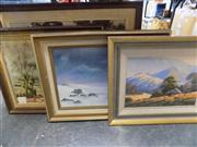 Sale 8441T - Lot 2098 - Various Artists - Collection of (4) Framed Oil Paintings, various sizes, each signed
