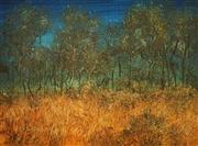 Sale 8682 - Lot 2025 - Ben Shearer (1941 - ) Untitled, 1968 (Landscape) , oil on board, 14 x 19.5cm, signed and dated lower left -