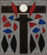 Sale 8732 - Lot 544 - John Coburn (1925 - 2006) - Study for Corpus Christi II 40 x 33.5cm