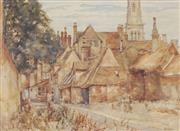 Sale 8730 - Lot 2025 - John Doddy Walker (1863 - 1925) - Country Cottage 27 x 37cm