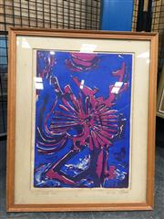 Sale 8726 - Lot 2090 - W. Latella - Span, Woodblock, 1977