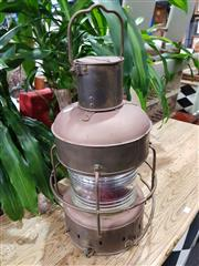 Sale 8769 - Lot 1033 - Vintage Copper Lantern