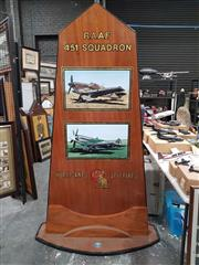 Sale 8809B - Lot 622 - R.A.A.F 451 Squadron Commemorative Display, ex Australian Aircraft Museum