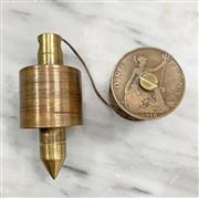 Sale 8951P - Lot 330 - American Brass Plumb Bob and Spool fashioned fron One Penny Coins