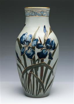 Sale 9093P - Lot 82 - Large Lovett Pottery Iris Vase (H: 38 cm)