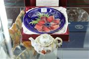 Sale 8348 - Lot 49 - Moorcroft Limited Edition Dish for E A Joyce & Son & Japanese Export Teapot