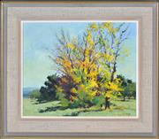 Sale 8363 - Lot 505 - Rhys Williams (1894 - 1976) - Autumn Trees 35.5 x 43cm