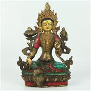 Sale 8412A - Lot 38 - Bronze Style Statue of Tara height - 22cm