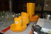 Sale 8509 - Lot 2326 - Rosti Denmark Plastic Picnic Wares Yellow