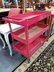 Sale 8601 - Lot 1132 - Red Metal Industrial Trolley
