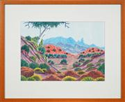 Sale 8741A - Lot 79 - Kevin Namatjira (1958 - 2018) - MacDonnell Ranges 31 x 44.5cm