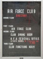 Sale 8809B - Lot 623 - Air Force Directory Pin Board in Case