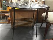 Sale 8822 - Lot 1702 - Metal Based Outdoor Table with Timber Top