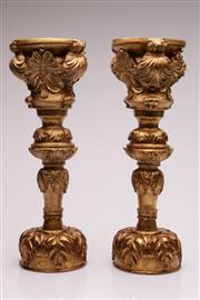 Sale 9049 - Lot 1 - Pair of gilt composite pedestal (H45.5cm)