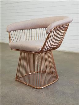 Sale 9151 - Lot 1011 - Warren Platner style armchair (h:71 x w:68cm)