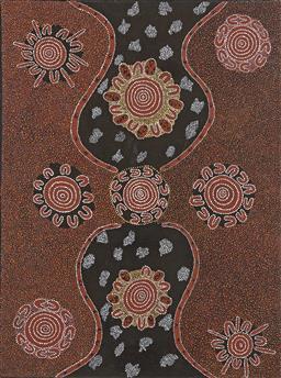 Sale 9170A - Lot 5095 - ARTIST UNKNOWN - Untitled (Aboriginal Art) 122 x 91 cm
