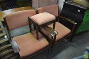 Sale 8386 - Lot 1063 - Pair of Paddle Armchairs w Footstool
