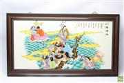 Sale 8652W - Lot 16 - Framed Chinese Story Board (90 x 50)