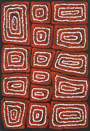 Sale 8743 - Lot 592 - Thomas Tjapaltjarri (c1964 - ) - Tingari 67 x 45cm (stretched and ready to hang)