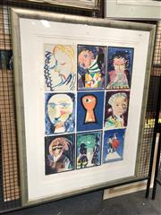 Sale 8779 - Lot 2022 - Charles Blackman - Marriage of Figaro, colour lithograph ed. 20/100 (AF), 120 x 91.5cm (frame) signed lower right