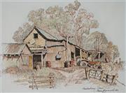 Sale 8945 - Lot 2049 - Cedric Emanuel (1906 - 1995) - A Hawkesbury Farm 27 x 35 cm (frame: 46 x 53 x 2 cm)