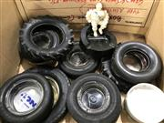 Sale 9022 - Lot 1057 - Collection Of Vintage Tyre Ashtrays Inc Dunlop & Michelin