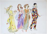 Sale 9047 - Lot 598 - Pixie OHarris (1903 - 1991) - The Seasons (Sketch For Hospital Panel) 27 x 36.5 cm (frame: 44 x 54 x 2 cm)